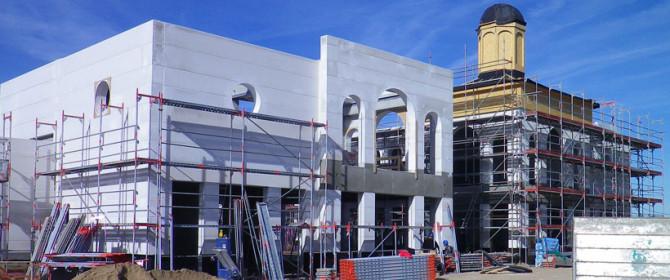 Gebäudehülle aus Porenbeton-Wandplatten F90